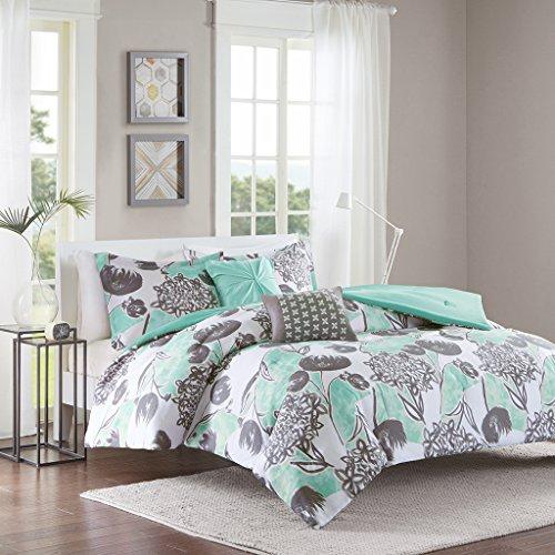 Intelligent Design ID10-730 Marie Comforter Set Full/Queen Aqua,Full/Queen
