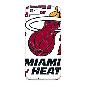 Snap-on Case Designed For Iphone 5c- Miami Heat