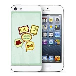 Pegatina Iphone 5 Bigotes en cuadros
