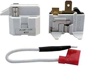 Edgewater Parts 12002782 Relay And Overload Kit Compatible With Whirlpool Refrigerator