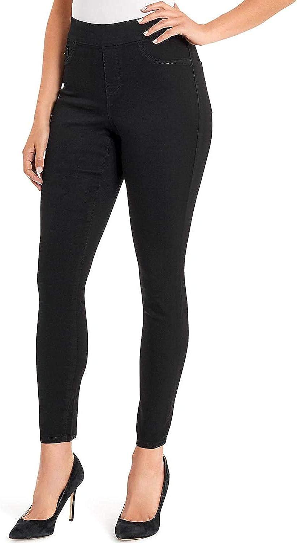 NINE WEST JEANS Womens Heidi Pull-On Skinny Crop Stretch Khaki Pant Sz 4 NWT