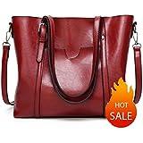 Women Shoulder Bags Zipper Handbags for Women Top Handle Bag Tote Bags by YUNS(Red)