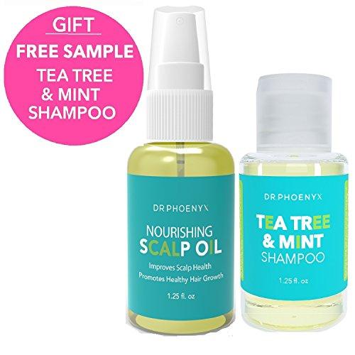 Dr. Phoenyx Scalp Nourishing Hair Oil - Hair Growth Oil and Scalp Treatment Oil with Tea Tree Oil, Coconut Oil, Jojoba Oil, Hair Vitamin, Rosemary Oil (1.25 fl oz) Scalp Treatment Oil