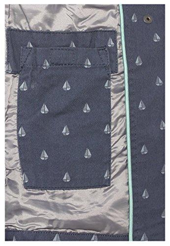de con Ligera All Sublevel Barcos Primavera de con de Entretiempo Oscuro Over Chaqueta Azul de Capucha Mujer Chaqueta Estampado 75nqqwHX0