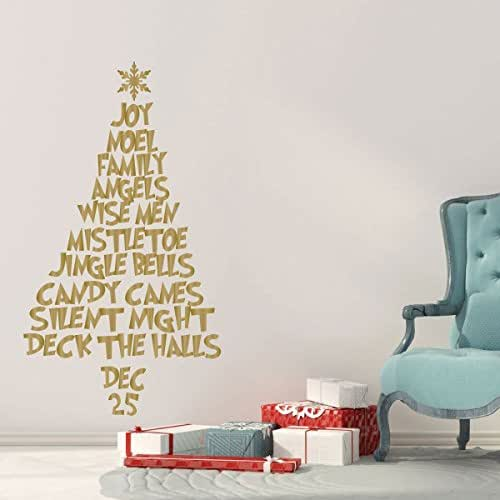 Holiday Wall Decor: Amazon.com: Christmas Tree Wall Decal Made From Words