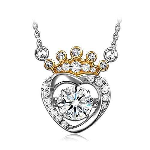 925 Sterling Silver Necklace Crown Pendant lady's fine jewellery (...) - 9