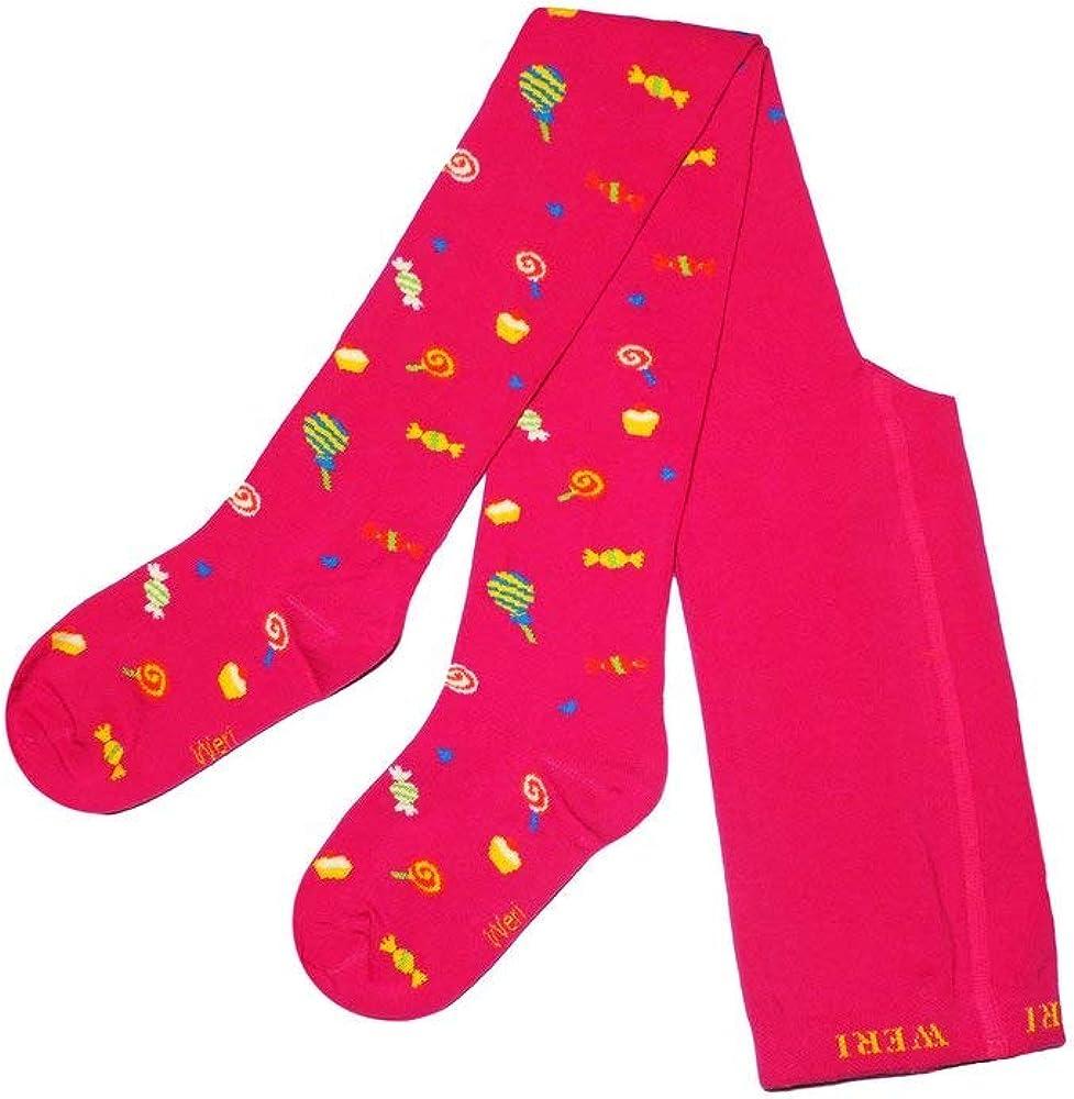 Weri Spezials Children Tights Candies and Lollipops Pink