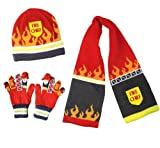 Kidorable Fireman Hat,Scarf and Gloves Set