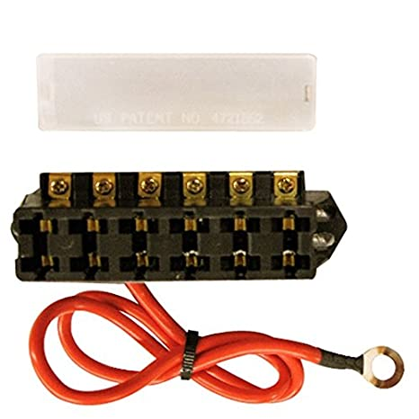 513KOW86uFL._SX466_ amazon com slimline 12 volt 6 terminal fuse block automotive