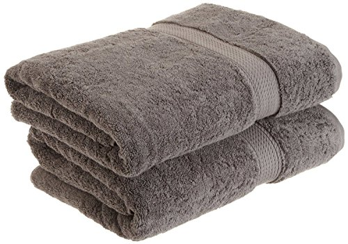 Heritage 6 Piece - Superior 900 GSM Luxury Bathroom Towels, Made of 100% Premium Long-Staple Combed Cotton, Set of 2 Hotel & Spa Quality Bath Towels - Charcoal, 30