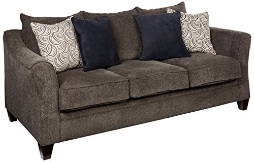 Simmons Upholstery 6485-03 Albany Pewter Albany Sofa