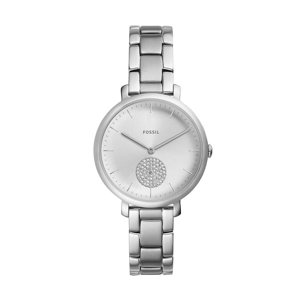 ویکالا · خرید  اصل اورجینال · خرید از آمازون · Fossil Women's Jacqueline Quartz Stainless-Steel Strap, Silver, 14 Casual Watch (Model: ES4437) wekala · ویکالا