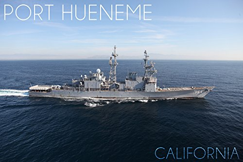 Port Hueneme, California - USS Paul F. Foster - Photograph (16x24 SIGNED Print Master Giclee Print w/ Certificate of Authenticity - Wall Decor Travel Poster)