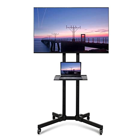 online store 91940 c09d0 Yaheetech Universal TV Stand on Wheels for 32 inch - 65 inch  Samsung/LG/Panasonic/Sony Bravia/Toshiba Flat Screen Mobile TV Stands with  Brackets Tall ...