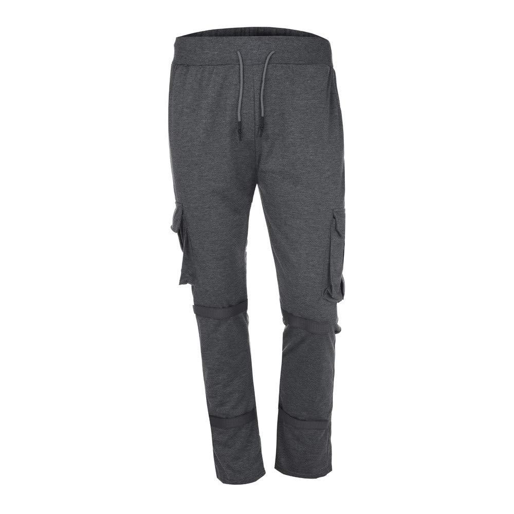 Sannysis Herren Hose Cargo Chino Jeans Sportbekleidung Baggy Slim Fit Hosen Slacks Sweatpant Rot/Armee-Grün/Schwarz / Weiß/Dunkelgrau