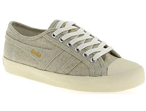 Gola Women's Coaster Linen Sneaker,Oatmeal/Off White Linen,US 7 M