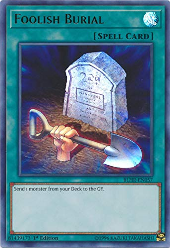 Yu Gi Oh Foolish Burial Blhr En057 Ultra Rare 1st Edition Battles Of Legend Hero S Revenge Buy Online In Grenada At Grenada Desertcart Com Productid 145529621