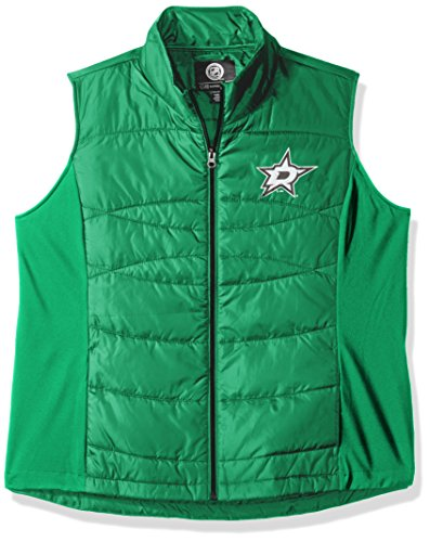 GIII For Her NHL Dallas Stars Women's Wing Back Vest, Small, Green