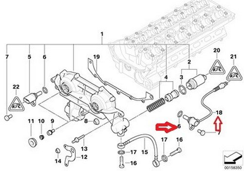 BMW OEM Camshaft Position Sensor - Intake E39 E46 E53 E60 E83 E85 Z3 525i  528i 530i 320i 323Ci 323i 325Ci 325i 325xi 328Ci 328i 330Ci 330i 330xi X5