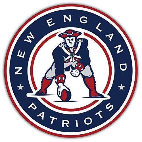 Sport England Patriots Badge NFL Car Bumper Sticker Decal 5'' X 5'']()