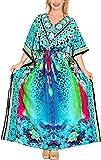 Best La Leela Bottom Covers - LA LEELA Printed Long Maxi Dress Swimwear Cover Review