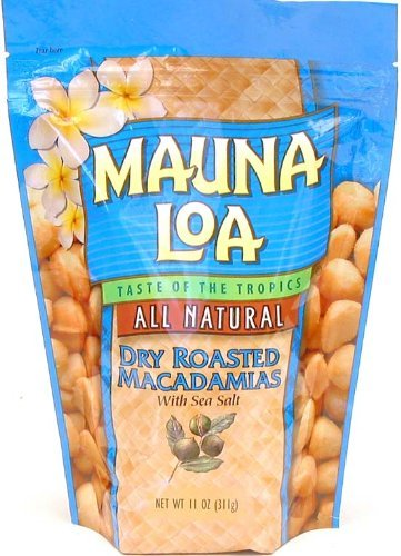 Mauna Loa Dry Roasted With Sea Salt Macadamia Nuts, 11-Ounce Package (Pack of 6) by Mauna Loa