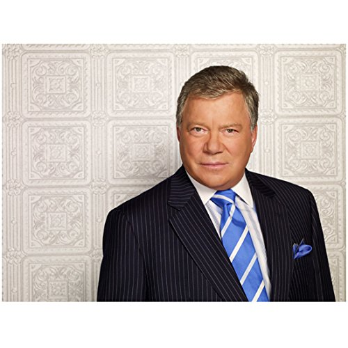 Boston Legal Cast with William Shatner as Denny Crane Close Up in Suit Looking Good 8 x 10 Photo
