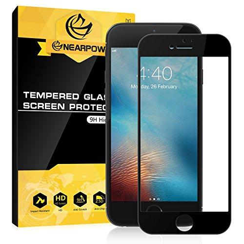 雇用者比率発火するNEARPOW iPhone 6 plus/6s plus 全面ガラスフィルム 3D曲面 専用液晶強化保護 0.3mm 硬度9H 耐衝撃 飛散防止 指紋防止 気泡ゼロ (ブラック)