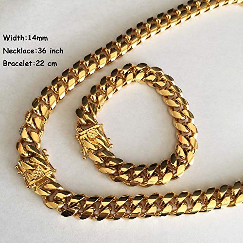 - Jewelry Set for Women | Link Chain Necklace | Bracelets | Stainless Steel Heavy Chain 14mm