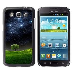 Qstar Arte & diseño plástico duro Fundas Cover Cubre Hard Case Cover para Samsung Galaxy Win / I8550 / I8552 / Grand Quattro ( Starry Night Meadow Tree Nature Mystic)