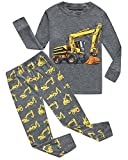 Family Feeling Excavator Little Boys Long Sleeve Pajamas Sets 100% Cotton Pyjamas Toddler Kids Pjs Size 3T Grey