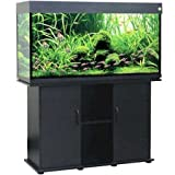 Delta Queen Collection Rectangular Aquarium and Stand, Black, 75-Gallon