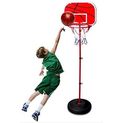 clarifylay Portable Height Adjustable Basketball Hoop Stand with Backboard for Indoors Outdoors Children Kids Toy Birthday Gift: Sports & Outdoors