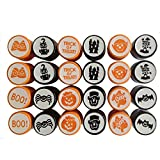 Funpa 24PCS Cartoon Stamp Party Seal Stamp Toy Spider Pumpkin Bat Pattern Halloween Supplies for Kids