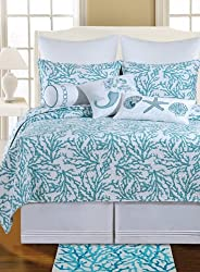66X86 Twin Quilt, CORA BLUE