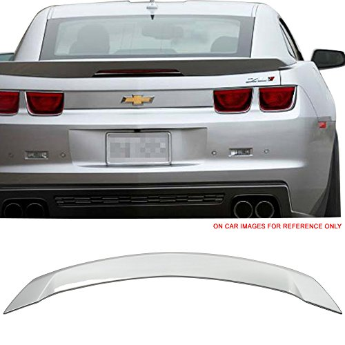 (Pre-painted Trunk Spoiler Fits 2010-2013 Chevy Camaro | ZL1 Style ABS Painted #WA636R Switchblade Silver Metallic Rear Spoiler Boot Lip Wing Deck Lid Other Color Available By IKON MOTORSPORTS)