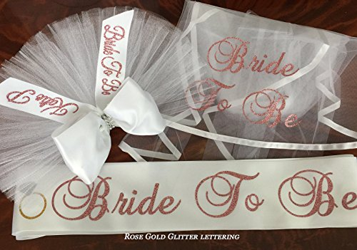 Color Any Sash (BOOTY VEILS - ROSE GOLD lettering (or any color) Booty Veil (Booty Cover, Bikini Veil). Sash and/or Hair Veil at add'l cost. An array of colors available. PERSONALIZED- Buy individually or as a set)