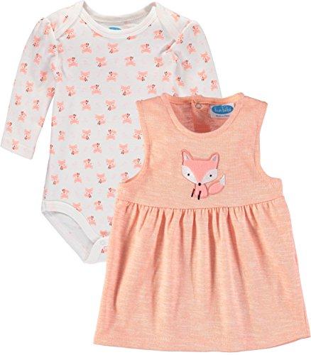 Bon Bebe Baby Girls' Bodysuit Jumper Set (0-3 Months, Foxy -