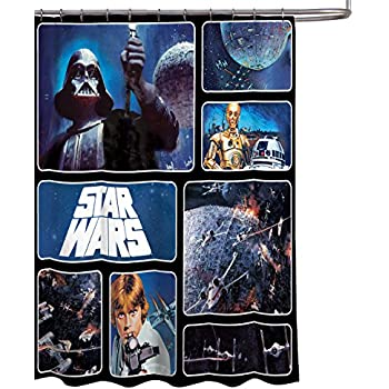 Star Wars Classic Saga 72 X Fabric Shower Curtain With Darth Vader