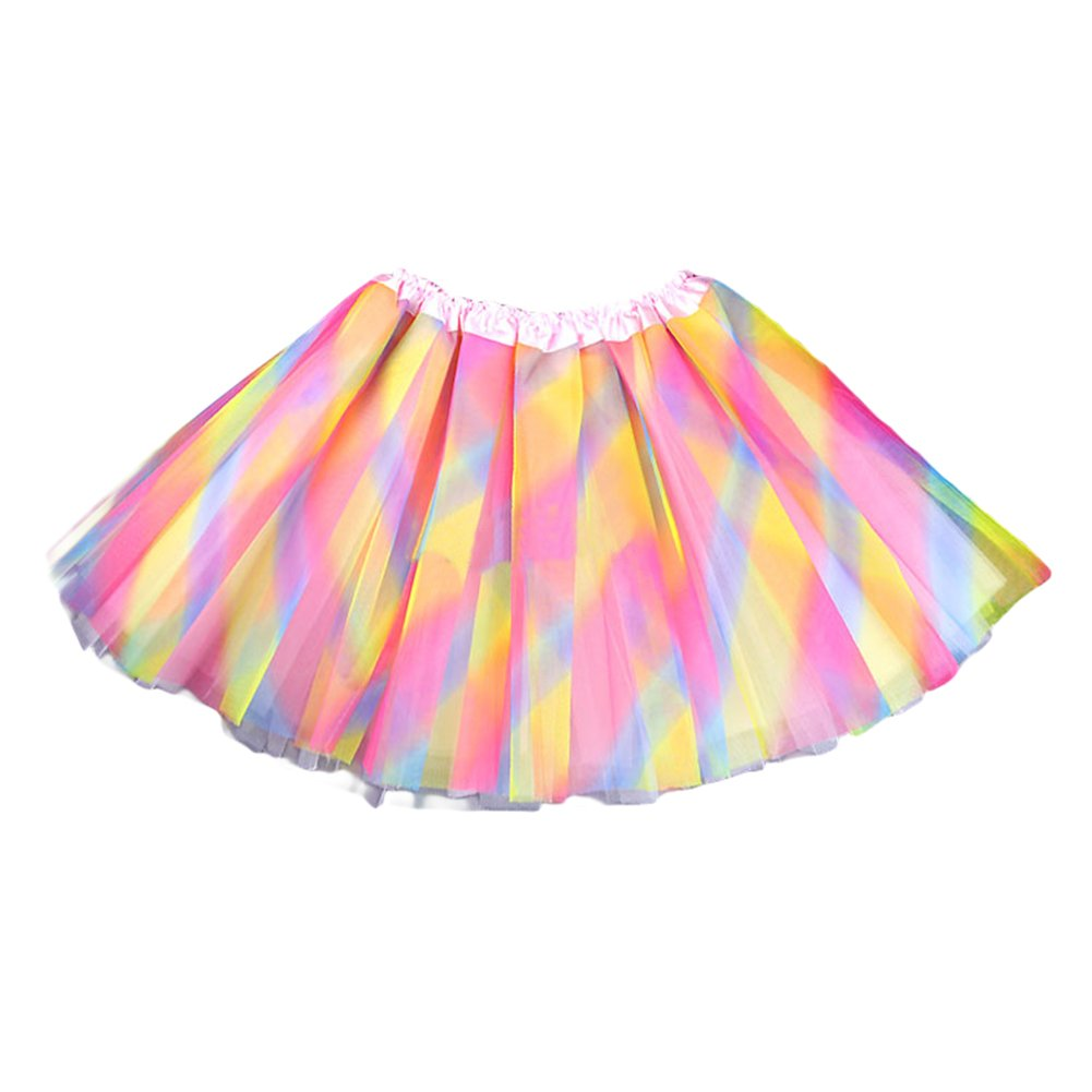 Dobelove Girls Solid Color Dance Tutu Pettiskirt 1-10T AR-CQ016