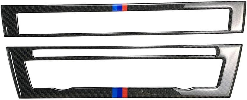 Classic Carbon Fiber Air Condition AC Outlet Vent Frame Decal Cover Trim for BMW 3 Series 5th E90 E91 E92 E93 315 318 320 323 325 328 2005-2013 9SB