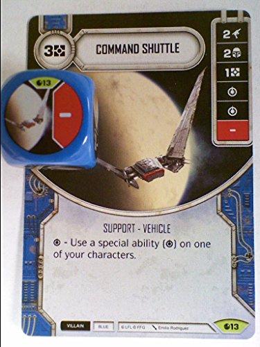 Star Wars Destiny Spirit of Rebellion [B] (Rare) Command Shuttle Card #13 & Dice (Star Wars Destiny Spirit Of The Rebellion)