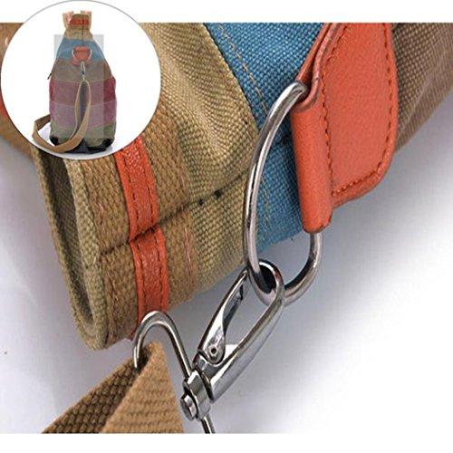 Voberry Bags Women Color Canvas Canvas Tote Handbags Striped Vintage Crossbody Contrast IxxTSw