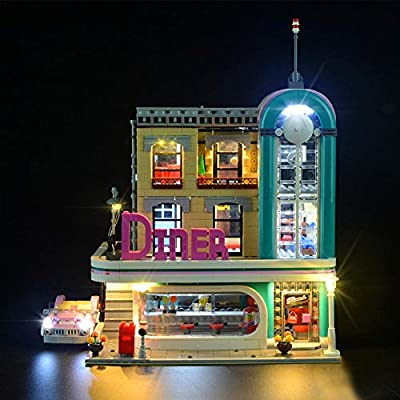 LED Lighting Kit for Lego Downtown Diner 10260 (Lego Set not Included) by dissylove : Baby