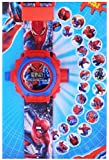 VE De-Lite Digital Projector Spiderman Cartoon Fancy Kids Toy Watch (Multicolour)