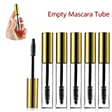 10Pcs 10ml Empty Mascara Tube and Wand, DIY Mascara Container with Cap, Eyelash Tubes Vials Bottle with Rubber Inserts and Funnels Kit for Castor