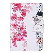 Apple Mini3 Smart Case,iPad mini 2 Leather Folio Case,iPad mini 1 Back Case,Slim Fit Flip Protective Case for Apple iPad Mini 1 / 2 / 3 Protective Cover with Stand Function,Flower-cats