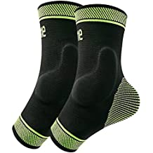 Protle Adjustable Foot socks, Ankle Brace Compression Support Sleeve with Silicone Gel, Arch Support - Boosts Recovery from Joint pain, sprain, plantar fasciitis, Heel Spur, Edema, Achilles tendonitis