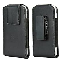 Kingsource iPhone 5S Pouch Case, Vertical Swivel Belt Clip Apple iPhone 5 5S 5C SE Belt Case with Clip Holster Cover Cell Phone Pouch Holder Sleeve Black