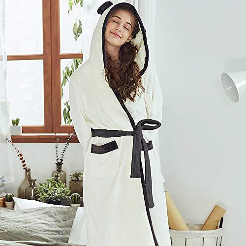 Fleece Domicilio Pijamas Linda Engrosamiento Albornoz Bolsillo Moda 165 Baño Navidad A De Damas Toalla Casual Capucha Con Servicio tamaño Coral 77qrw8